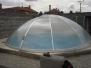 otočné zastřešení kruhových bazénů